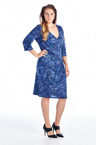 Marcelle Margaux Plus Printed V-Neck Midi Dress - WholesaleClothingDeals - 3