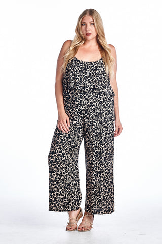 Marcelle Margaux Plus Geo Printed Jumpsuit - WholesaleClothingDeals - 1
