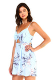 Women's Floral Cut-Out Sleeveless Romper