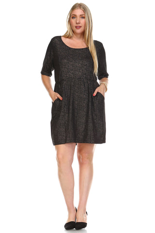 Marcelle Margaux Plus Dress w/ Side Pocket -  - 1