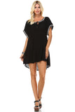 Marcelle Margaux Embroidered Detail Loose Boho Dress - WholesaleClothingDeals - 1