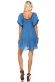 Marcelle Margaux Embroidered Detail Loose Boho Dress - WholesaleClothingDeals - 8