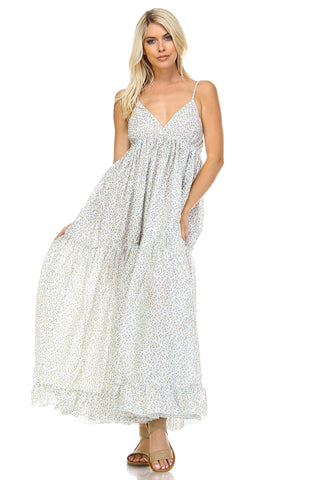 Marcelle Margaux Floral Printed Tiered Maxi Dress -  - 1