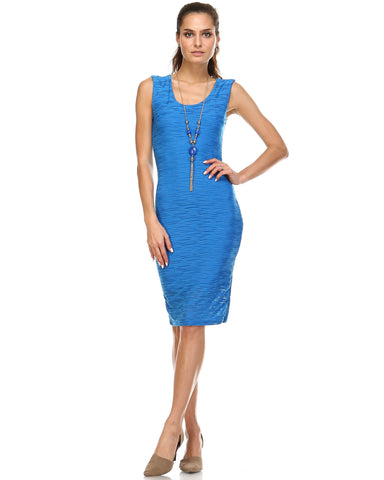 Marcelle Margaux Textured Knit Tank Dress - WholesaleClothingDeals - 1