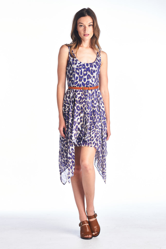 Urban Love Hi Low Dress with Waist Belt - WholesaleClothingDeals - 1