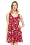 Urban Love Printed Cross Back Chiffon Dress - WholesaleClothingDeals - 2