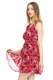 Urban Love Printed Cross Back Chiffon Dress - WholesaleClothingDeals - 3