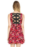 Urban Love Printed Cross Back Chiffon Dress - WholesaleClothingDeals - 4
