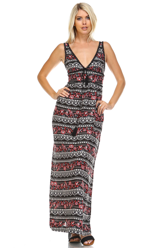 Marcelle Margaux Floral Printed Tank Dress -  - 1