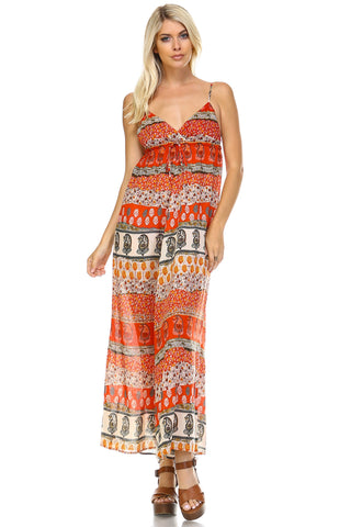 Marcelle Margaux Boho Printed Maxi Tank Dress -  - 1