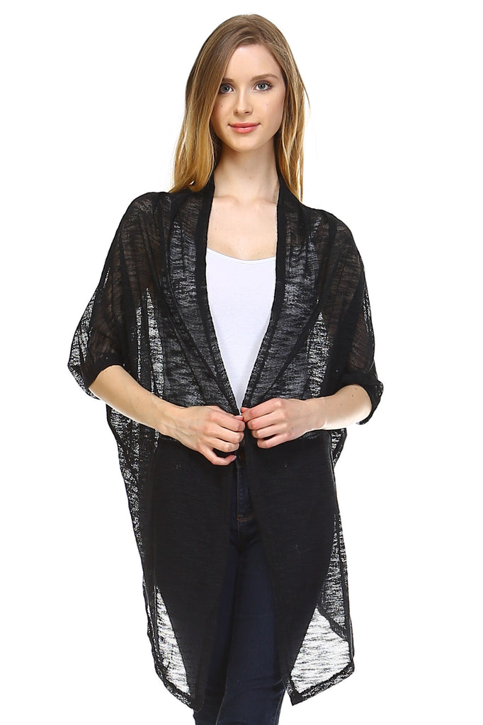 Christine V Knit Cardigan Top -  - 1
