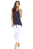 Marcelle Margaux Hi-Low Collar Top - WholesaleClothingDeals - 4