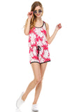 Urban Love Tropical Print RacerBack Sleeveless Romper - WholesaleClothingDeals - 5