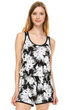 Urban Love Tropical Print RacerBack Sleeveless Romper - WholesaleClothingDeals - 10