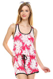 Urban Love Tropical Print RacerBack Sleeveless Romper - WholesaleClothingDeals - 6