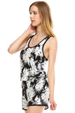 Urban Love Tropical Print RacerBack Sleeveless Romper - WholesaleClothingDeals - 11