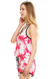 Urban Love Tropical Print RacerBack Sleeveless Romper - WholesaleClothingDeals - 7
