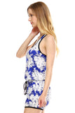 Urban Love Tropical Print RacerBack Sleeveless Romper - WholesaleClothingDeals - 3