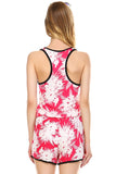 Urban Love Tropical Print RacerBack Sleeveless Romper - WholesaleClothingDeals - 8