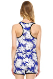 Urban Love Tropical Print RacerBack Sleeveless Romper - WholesaleClothingDeals - 4