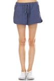 Urban Love Comfy Elastic Band and Tie Waistline Shorts with Pockets - WholesaleClothingDeals - 1