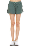Urban Love Comfy Elastic Band and Tie Waistline Shorts with Pockets - WholesaleClothingDeals - 4