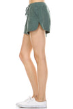 Urban Love Comfy Elastic Band and Tie Waistline Shorts with Pockets - WholesaleClothingDeals - 5