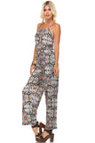 Marcelle Margaux Sleeveless Elastic Waistline Printed Jumpsuit - WholesaleClothingDeals - 3