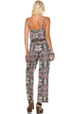 Marcelle Margaux Sleeveless Elastic Waistline Printed Jumpsuit - WholesaleClothingDeals - 4