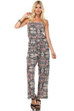 Marcelle Margaux Sleeveless Elastic Waistline Printed Jumpsuit - WholesaleClothingDeals - 2