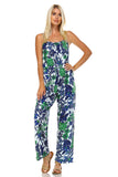 Marcelle Margaux Sleeveless Elastic Waistline Printed Jumpsuit - WholesaleClothingDeals - 5