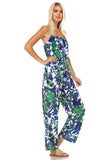 Marcelle Margaux Sleeveless Elastic Waistline Printed Jumpsuit - WholesaleClothingDeals - 7