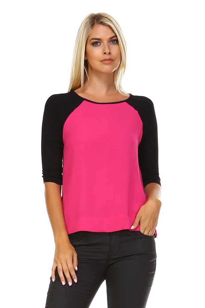 Marcelle Margaux Side Zipper Detail Top -  - 1