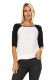 Marcelle Margaux Side Zipper Detail Top -  - 5