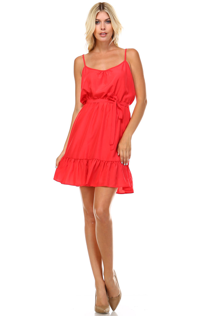 Marcelle Margaux Ruffle Detail Sleeveless Midi Dress - WholesaleClothingDeals - 1