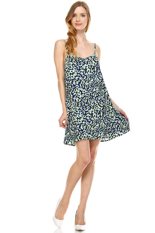 Urban Love Loose V-Neck Sleeveless Dress - WholesaleClothingDeals - 1