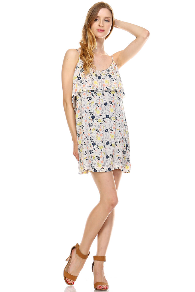 Urban Love Double Layer Detail Sleeveless Dress - WholesaleClothingDeals - 1