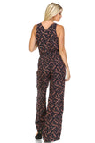 Marcelle Margaux Leaf Printed V-Neck Jumpsuit -  - 3