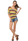 Women's Stripe V-Neck Top
