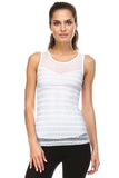 Women's White Lace Overlay tank