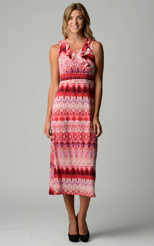 Christine V Ruffle Maxi Dress - WholesaleClothingDeals - 3