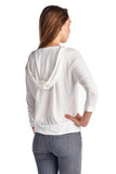 Urban Love Pullover Jersey Hoodie with Contrast Lace Pocket - WholesaleClothingDeals - 3