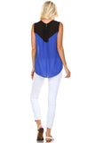 Marcelle Margaux Stud Detail Sleeveless Sheer Top - WholesaleClothingDeals - 4