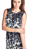 Sharagano Leopard Printed Blouson Dress - WholesaleClothingDeals - 4
