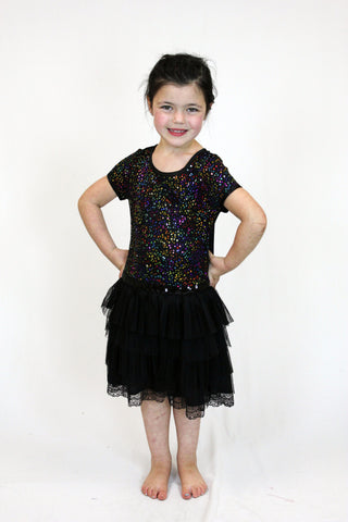 Jojo Belle Short Sleeve Sequin Tutu Dress - WholesaleClothingDeals - 1