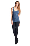 Urban Love Henley Tank with Lurex Thread - WholesaleClothingDeals - 3