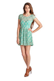 Urban Love Sleeveless Floral Lace Dress - WholesaleClothingDeals - 2