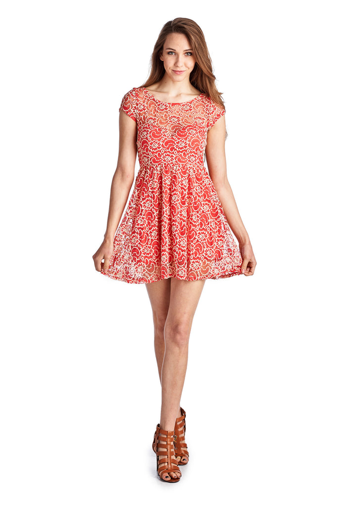 Urban Love Sleeveless Floral Lace Dress - WholesaleClothingDeals - 6