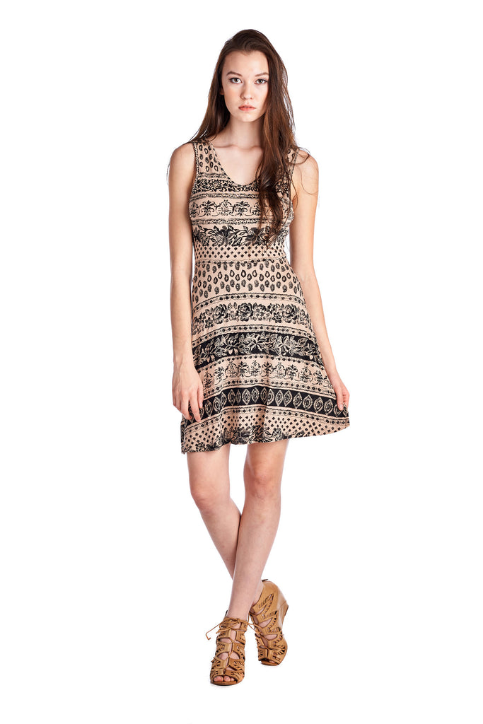 Urban Love Printed Jersey Dress - WholesaleClothingDeals - 1