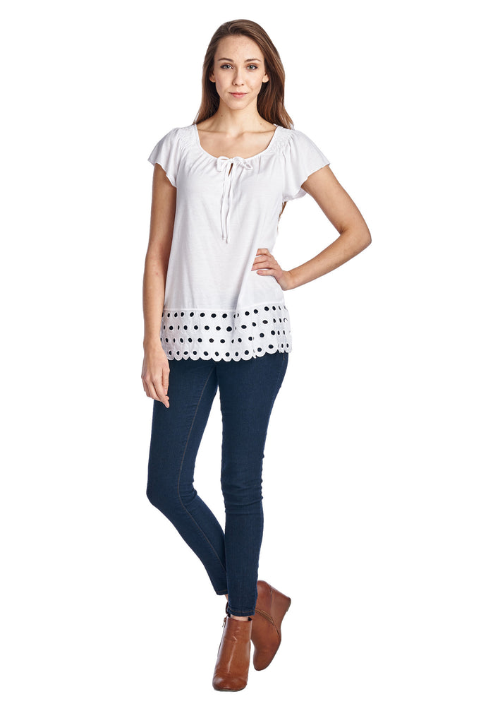 Urban Love Jersey Keyhole Top with Hem Detail - WholesaleClothingDeals - 2